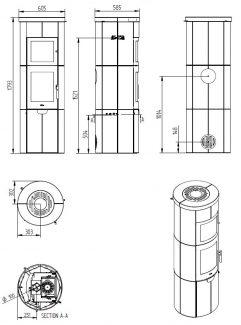 Plan Heta SL 80XL Four Faïence