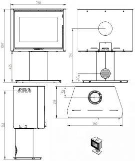 Plan Heta SL 95 Sur Pied Fixe Acier