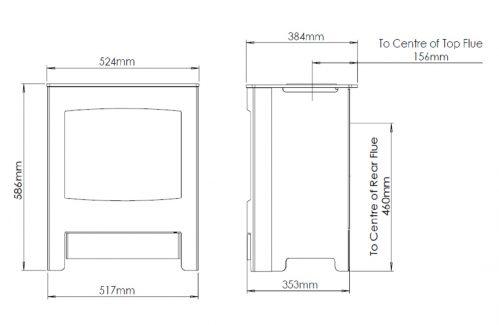 Verona Gas Dimensions Drawings